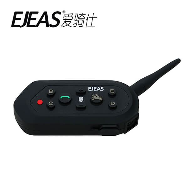 EJEAS E6 6 riders 1200 meters bluetooth motorbike helmet intercom-1