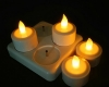 LED Rechargeable Flameless Tearlight Flickering Tea Light Candles CL213804Y -2