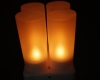 LED Rechargeable Flameless Tearlight Flickering Tea Light Candles CL213804Y-3